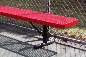 10 foot free standing park bench