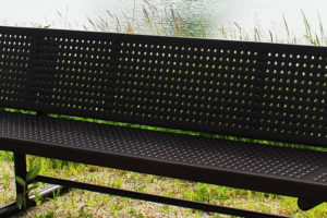 smooth perforated metal surface