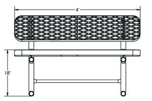 4' bench drawing