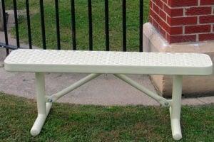 poly-vinyl coated metal outdoor bench