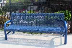 commercial quality contoured bench