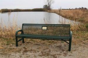 6' contoured memorial bench