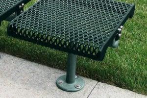 surface mount leg post bolts onto concrete