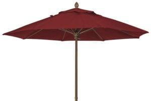 7.5 foot Burgundy Market Umbrella