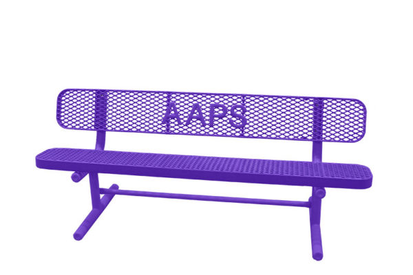 benches with letters