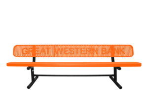 8' personalized bench with letters