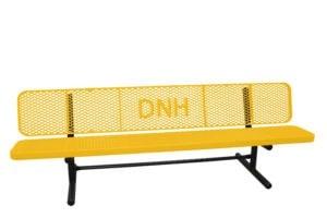 lettered bench