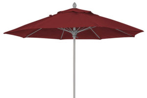 9 foot burgundy Lucaya umbrella aluminum pole