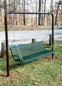 plastisol coated metal swing