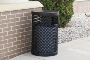 heavy-duty trash receptacle