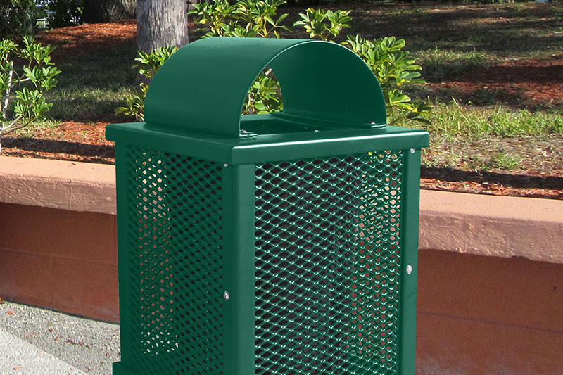 arch lid garbage can
