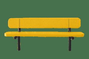 poly-vinyl coated metal bench